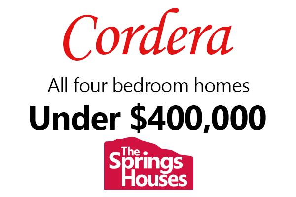 4 Bedroom Homes in Cordera for Under $400,000