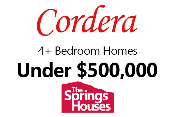 Cordera 4 Bedroom Homes under $500,000