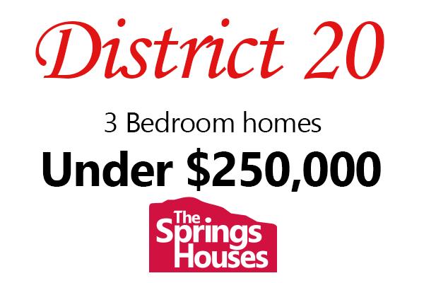 3 Bedroom D-20 Homes under $250,000