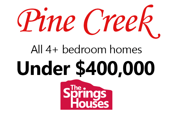 Pine Creek 4 bedroom homes under $400,000