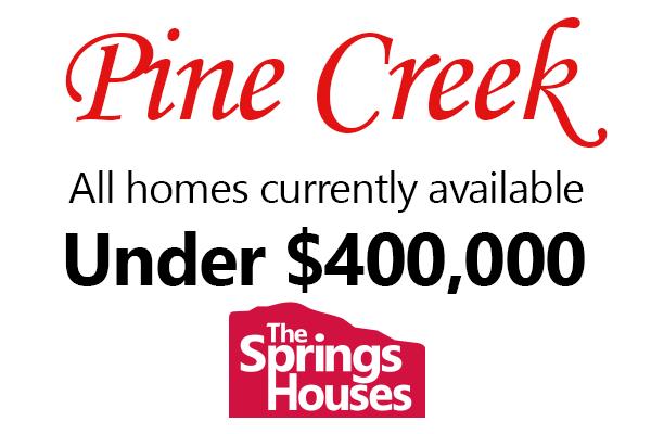 Pine Creek Homes Under $400,000